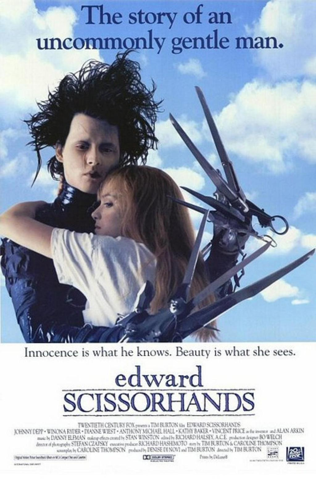 I have to write a movie review essay for the movie Edward Scissorhands...Help!? (Second attempt.)?
